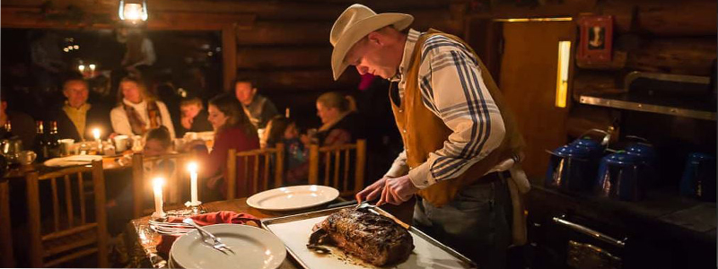 one Mountain Ranch North Fork Cabin Dinner