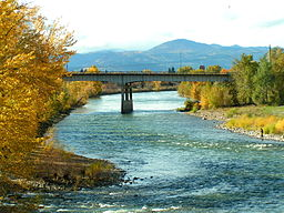 Clark Fork River smack in the middle of Missoula, MT for fishing, surfing, and rafting