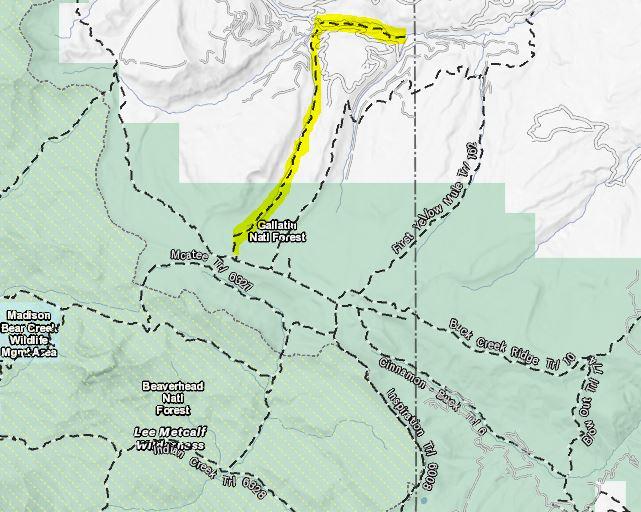 Ousel Falls Trail Map Big Sky Montana
