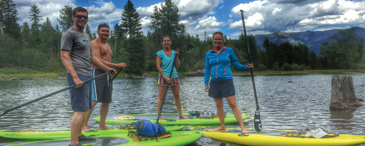 Paddle board and kayak rentals in Big Fork Montana
