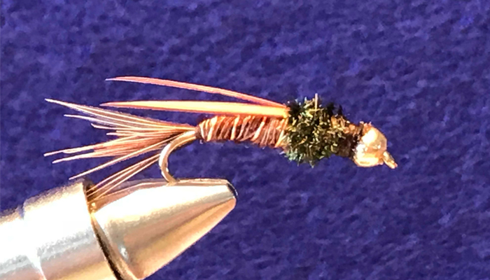 Pheasant Tail #10 Hand Tied by Chuck the Fly Guy