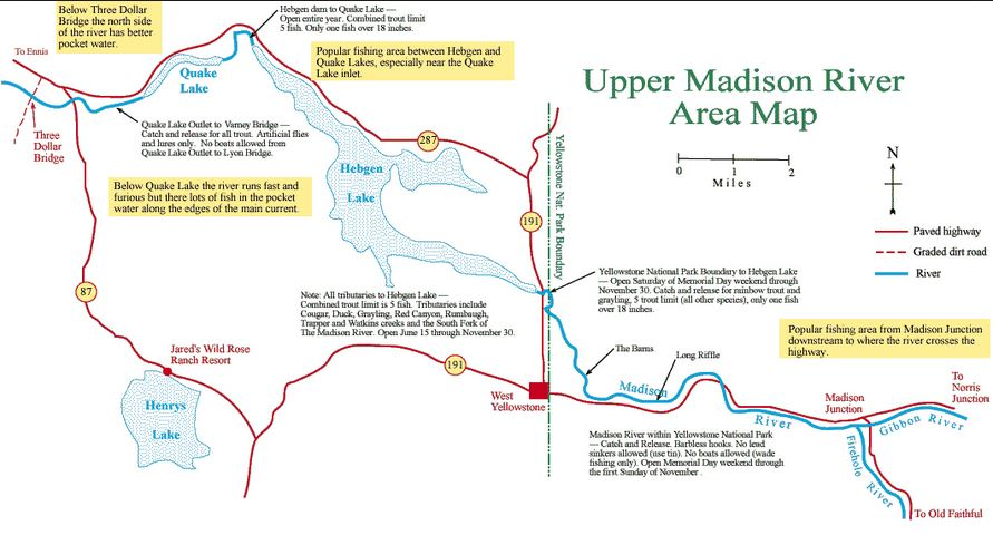 Madison River Montana Map.Fish The Madison River In Montana Destination Montana